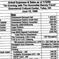 Pride 1999 Actual Expenses and Sales as of July 10 cover.png