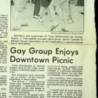 Gay Group Enjoys Downtown Picnic