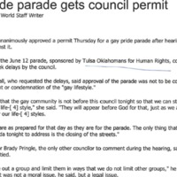 Gay pride parade gets council permit cover.png